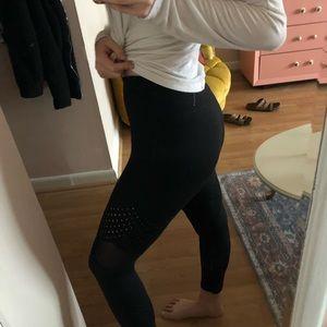 Mono mesh and hole High Waisted leggings